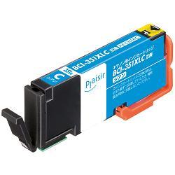 【プレジール】キヤノン(Canon)用 BCI-351XLC インクタンク(大容量) シアン互換 汎用インク(PLE-C351XLC)