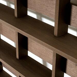 CDラック大容量おしゃれCDラック・シェルフ型・3列タイプ・ダークブラウン(CD収納ラック・CDシェルフラック・CDディスプレイラック・CD棚・大容量・大量・壁に立てかける・木製・ウッド・おしゃれ・デザイン・インテリア・送料無料)/M-CD-05-W/Ladderシリーズ/マルゲリータ