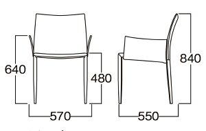 レザーチェアLINDA(ホワイト)MBC0009WH/遠藤照明・AbitaStyle