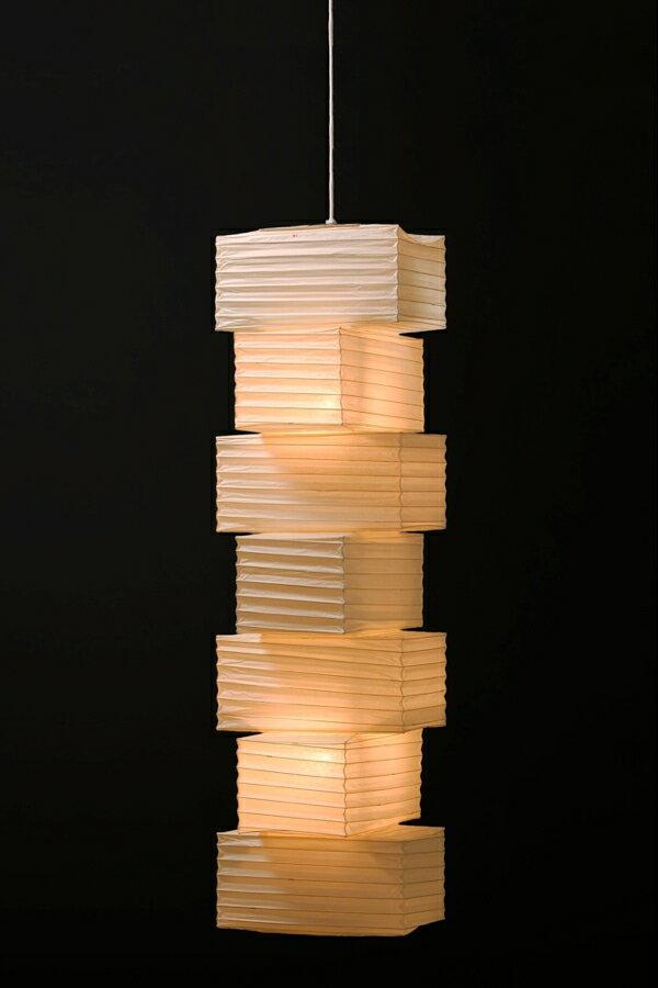 イサムノグチ akari イサム・ノグチ デザイナーズ照明 あかり アカリ ISAMU NOGUCHI 和紙照明 ペンダントライト 36N-PE2-16 / ロングペンダントタイプ(ペンダントランプ 吊り下げ式 照明器具):マルゲリータ本棚・CDラック収納