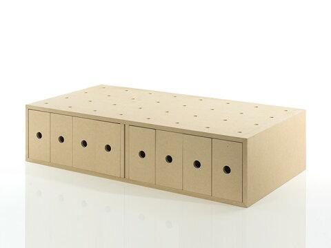 小物入れ 引き出し 収納ボックス 木製(小引き出し 小物 収納 小物ボックス 小物ケース 収納ケース 収納box 収納 ラック 収納箱 収納棚 カラーボックス ストレージボックス キューブボックス キューブ ボックス スタッキング ラック)BLC-16HA-V4 /マルゲリータ