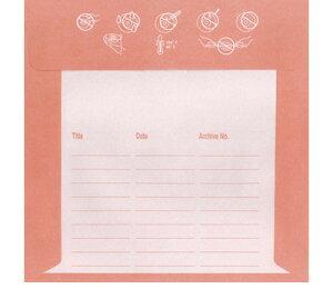 CD用紙ジャケット/封筒型片面セロファン窓付き5色カラー×各40枚セット【margherita】