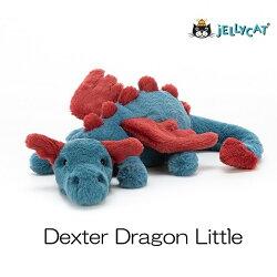 jellycat ジェリーキャット 正規輸入品 ドラゴン dexter dragon little デクスタードラゴンリトル ぬいぐるみ 柔らかい 安心 安全 赤ちゃん ベビー 出産祝い ギフト 誕生日 贈り物 プレゼント 新生児 かわいい 人気 26cm ふわふわ 青 赤 デクスタードラゴン リトル