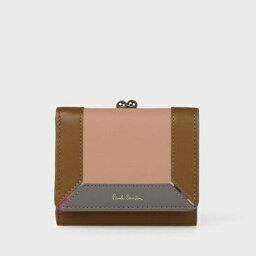 ポールスミス 折財布 3つ折り財布 コントラストカラーブロック ピンク Paul Smith