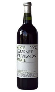 リッジ カベルネ・エステート [2008]Ridge Cabernet Estate