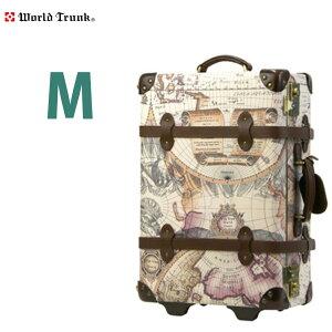 スーツケース トランク キャリーバッグ キャリーバック キャリーケース 人気 WORLD TRUNK ワールドトランク 撥水加工 合皮製 革 〜4日 5日 M サイズ 中型 『7013-60』
