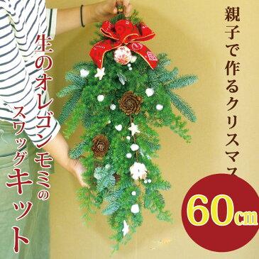 キット『クリスマススワッグキット』生花 予約  材料 クリスマスリースの花材 手作り  クリスマススワッグ おしゃれ 自分で作る キット