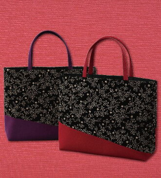 【バッグ】京都 marimari 印伝調 横型斜め取りバッグ(大花)日本製 【宅配便】宅配便となります。