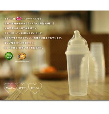使い捨てほ乳びんClovisBabyイギリス生まれのお出かけ用哺乳瓶steri-bottle