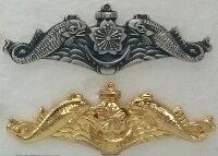【海上自衛隊グッズ】【徽章】ドルフィンバッチ【金・銀】【バッチ】