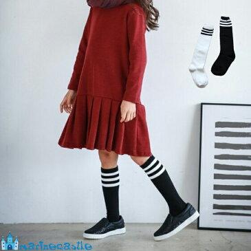 靴下 キッズ ダンス チアダン ハイソックス キッズ 白 黒 ホワイト ブラック フォーマル 女の子 韓国 子供服 入学式3本ラインハイソックス 男の子卒園 卒業 入園 入学 12cm 14cm 16cm 18cm 20cm 22cm socks