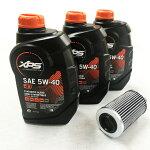 SEA−DOOオイル交換セット4ストローク300馬力用(OIL-S4433)*オイル946ml×3本と社外品フィルターのセット