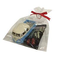 バレンタインギフトフォルクスワーゲンミニカー×チョコバーセット/ハワイアンホーストチョコレート1963VWBusDoubleCabPickupPastelColor1/34【RCP】