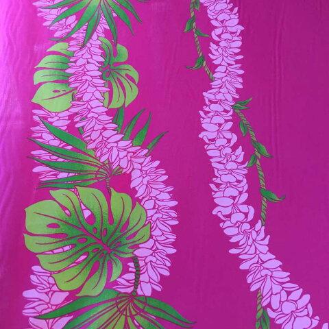 【平日13時までのご注文は当日発送】 ハワイアン生地 ピンク モンステラ プルメリア レイライン 3mまでゆうパケット対応 ハワイアン 雑貨 インテリア