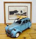 ブリキのおもちゃ「レトロキャリアカー27182」/インテリア雑貨 置物 サーフィン