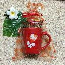 ハートプリントマグカップ×マカダミアンナッツチョコレートセット/バレンタイン ホ…