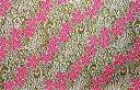 ☆ハワイ直輸入!☆ハワイアン生地 ピンクプルメリア&グリーンタパ柄/パウスカート生地 フラ 手芸