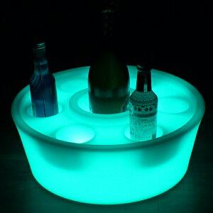 【即日発送可】LEDワインラック【1個入り】16色カラーチェンジ点灯ワインボックスワイン箱収納ケース小物入れ小物収納収納BOXプラスチックケース丸型円形リモコン操作OK抗菌加工衛生的LED内蔵防水IP65屋外使用OKLED家具