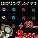 [レビュー記載で送料無料]防水LEDリングプッシュスイッチ(全5色)φ19mmステンレス加工12v/24v兼用[1個売り]