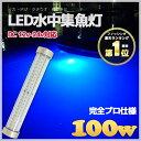 【プロ仕様】 水中集魚灯 led イカ釣り 水中ライト 100w 8000lm ブルー 12v/24v兼用 LED 船舶ライト 船...