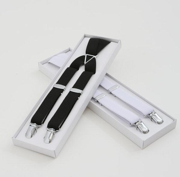 フォーマル用サスペンダー  モーニング用サスペンダー 白/黒フリーサイズ  タキシードサスペンダー・サスペンダーメンズ フォー