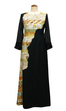 一点物の正絹留袖ドレス【着物リメイクドレス 和ドレス 結婚式 参列  母親 親族 留袖 9号】