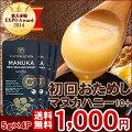 【メール便・送料無料】マヌカハニー蜂蜜10+お試しスナップパック5g×4個セットmgo300