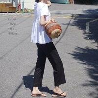 異素材Tシャツトップスプリーツ半袖シンプル大人デザインシャツノーカラーレディース薄手涼しい夏無地ホワイトブラック白黒S/M/L