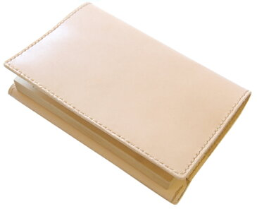 ハンドメイド 革製ブックカバー(ハヤカワトールサイズ)国産牛ヌメ革・日本製 革製しおり付 ネーム刻印無料