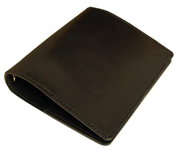 革製システム手帳 バインダーA5 ヌメ革ブラック ネーム刻印無料 オーダーメイド承ります