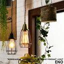 [ENO:エノ] WIREGUARDS インダストリアル ガード ペンダントライト 1灯 LED対応 ワイヤー ライト 照明 ダイニング用 食卓用 ハンギング 寝室 キッチン カウンター ライティングレール(要プラグ) 玄関 階段 廊下 トイレ 洗面 ビンテージ おしゃれ エジソン球対応 (2-2