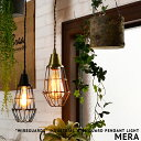 [MERA:メラ] WIREGUARDS ガード ペンダントライト 1灯 LED対応 インダストリアル ワイヤー ライト 照明 ダイニング用 食卓用 ハンギング 寝室 キッチン カウンター ライティングレール(要プラグ) 玄関 階段 廊下 トイレ 洗面 ビンテージ おしゃれ エジソン球対応 (2-2