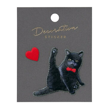 クリックポスト対応 刺繍 ステッカー シール かわいい アニマル エキゾチックショートヘア ネコ 猫