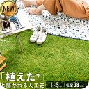 ◆05/06まで 4480円◆ 人工芝 リアル人工芝 幅1m×長さ5m 芝丈38mm 密度1.9倍 ロール 庭 ガーデニング ガーデン ベランダ バルコニー 屋上 テラス 芝生・・・