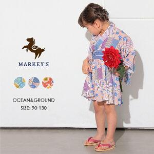 ≪56%OFF≫ 浴衣ワンピース OCEAN&GROUND オーシャンアンドグラウンド MARKEY'S マーキーズ 90cm 100cm 110cm 120cm 130cm 子供服 女の子 姉妹 お揃い 浴衣 夏祭り 夕涼み会 花火大会 セール アウトレット