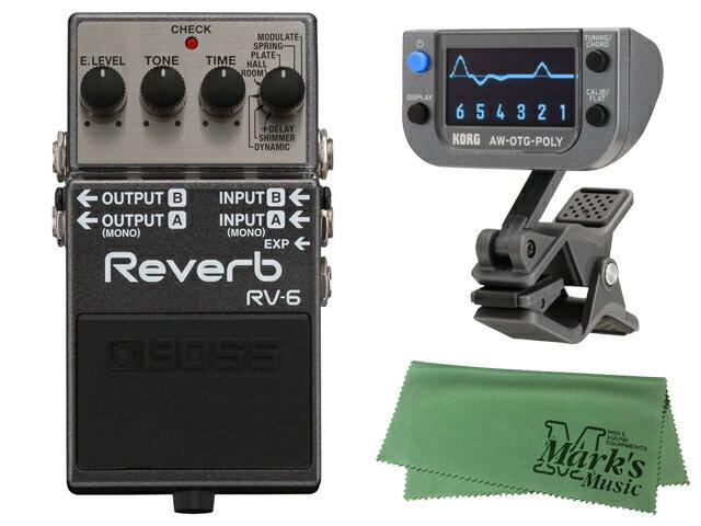 ギター用アクセサリー・パーツ, エフェクター BOSS Reverb RV-6 KORG AW-OTG-POLY