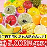 ご自宅用【季節の果物詰め合わせ】フルーツセット5000円