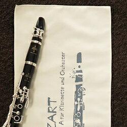 これは欲しい!木管楽器の長さのマイクロファイバークロスエアコンの冷気から楽器を守ります。クラリネット・イラストレーションこれはアートだ! (送料込)