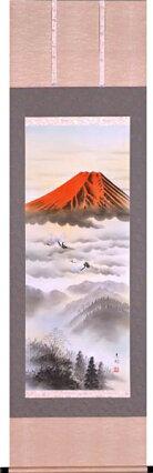 掛け軸赤富士(東村)
