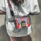 ショルダーバッグ エスニック エキゾチック ポシェット クリア 韓国ファッション オルチャン 可愛い 学生 スマホケース 財布ケース 双子コーデ 原宿系 ストリート レディース ホワイト レッド ブラック ワンサイズ