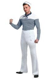 大きいサイズ Vintage Sailor Men's コスチューム ハロウィン メンズ コスプレ 衣装 男性 仮装 男性用 イベント パーティ ハロウィーン 学芸会