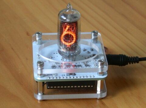 1桁ニキシー管 時計 日本語説明書付き QS18-12 Nixie ニキシーチューブクロック USB 電源 小型 レトロ インテリア