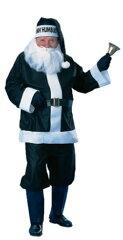 本格的 サンタ サンタクロース クリスマス ブラック 黒 男性 メンズ コスチューム コスプレ男性...