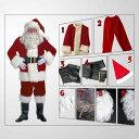 超豪華9点セット!!本格的 サンタ サンタクロース 誕生日 赤 レッド 男性 メンズ コスチューム コスプレ 男性 メンズ 大人用 大きいサイズ ビッグサイズ 仮装 衣装 学園祭 文化祭