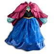 大ヒット映画  アナ雪 アナ 子供用 コスチューム レプリカ 女の子 コスプレ ワンピース ドレス 衣装 ハロウィン 仮装 キッズサイズ 子供服