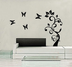 木 DIY Art Butterfly ウォールデコ ウォールステッカー インテリア 壁 シール Decor ルームステッカー ビニール リムーバル Paper Mural