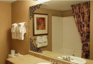 Mirror Vine DIY ウォールデコ ウォールステッカー インテリア 壁 シール Decor Bath ルームステッカー リムーバル Paper Mural 4Pcs
