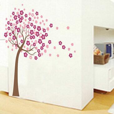 ウォールデコ ウォールステッカー インテリア 壁 シール Decor ルームステッカー DIY Art ビニール リムーバル Paper Mural 木 フラワー お花