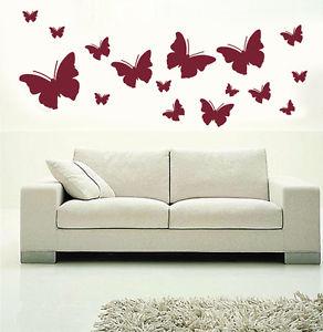New リムーバル ウォールデコ ウォールステッカー インテリア 壁 シール Art Home デカール Mural Room DIY Stickers Paper Butterfly