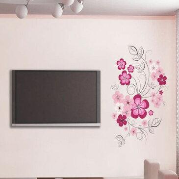 リムーバル ウォールデコ ウォールステッカー インテリア 壁 シール Art Home デカール Mural Living Room DIY Stickers Paper フラワー お花